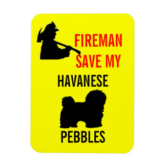 Custom Fireman Save My Havanese Fire Safety Vinyl Magnets