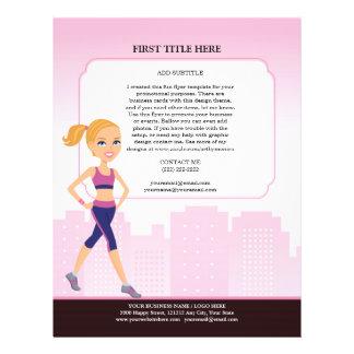 Custom Fitness Flyer with Illustration