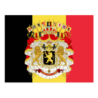 Custom Flag of Belgium Black Yellow Red Postcard
