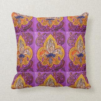Custom fleur de lis pillow