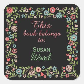 Custom Floral Book Sticker