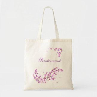 Custom Floral Bridesmaid Wedding Tote Bag