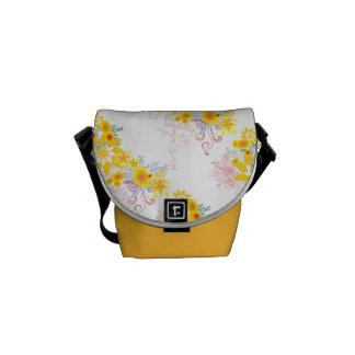 Custom Floral Design Messenger Bag