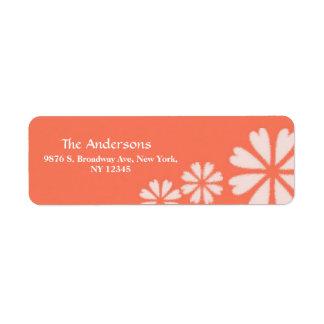 Custom Floral Pattern Return Wedding Address Label