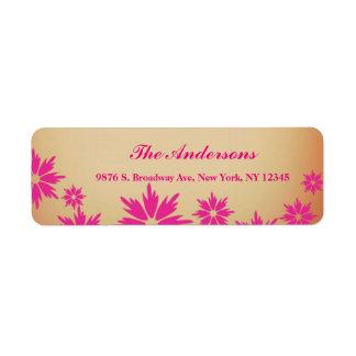 Custom Floral Return Wedding Address Label