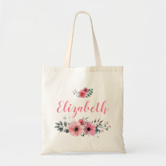 Custom Floral Tote Bag