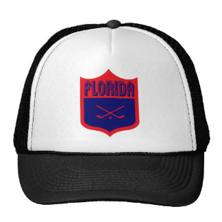 Custom Florida Shield Design Mesh Hats