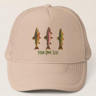 Custom Fly Fishing Ichthyology 3 Trout Trucker Hat