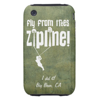Custom Fly from Trees Ziplining Case iPhone 3 Tough Cover