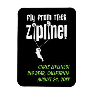 Custom Fly from Trees Ziplining Rectangular Photo Magnet