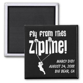 Custom Fly from Trees Ziplining Fridge Magnet