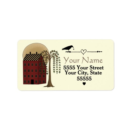 Custom Folk Art Address Labels