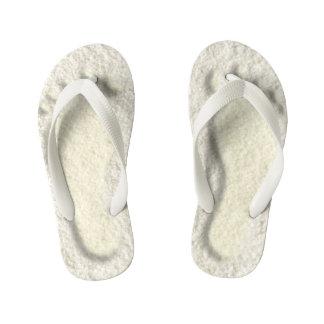 Custom footprint/footprints on sandy beach design kid's thongs