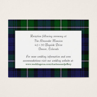 Custom Forbes Plaid Wedding Enclosure Card