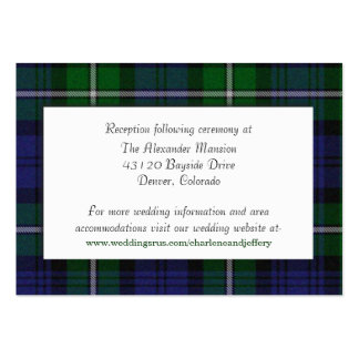 Custom Forbes Plaid Wedding Enclosure Card Pack Of Chubby Business Cards