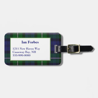 Custom Forbes Tartan Plaid Luggage Tag