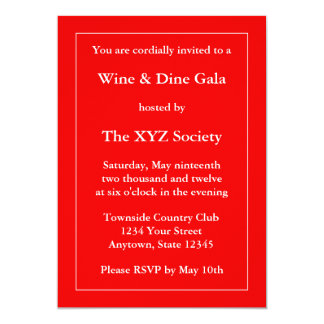 Custom Formal Red Invitation or Announcement