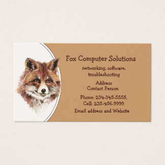 Custom Fox Computer Solutions Business Card
