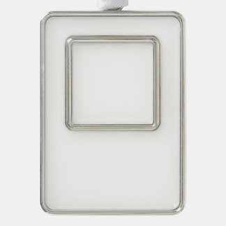 Custom Framed Ornament - Vertical Silver Plated Framed Ornament
