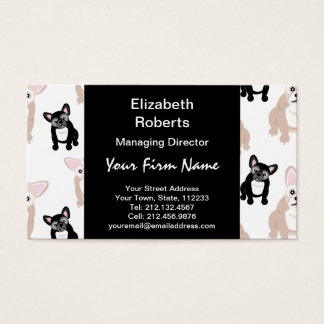 Custom French Bulldog Pattern Business Card