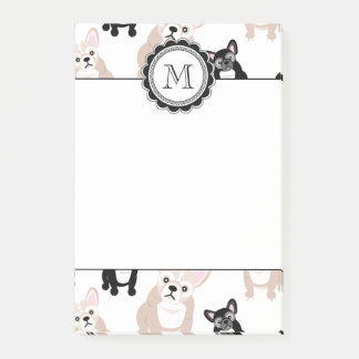 Custom French Bulldog Pattern Post-it Notes