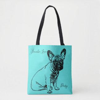 Custom French Bulldog Tote