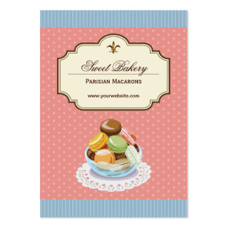 Custom French Parisian Macarons Dessert Store Pack Of Chubby Business Cards