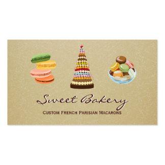 Custom French Parisian Macarons Dessert Store Pack Of Standard Business Cards