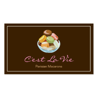 Custom French Parisian Macarons Dessert Store Pack Of Standard Business Cards