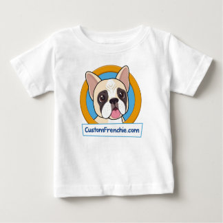 Custom Frenchie Logo Baby Fine T-Shirt