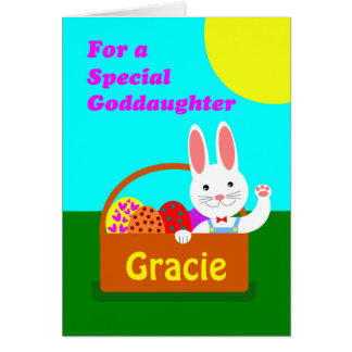 Goddaughter easter gifts t shirts art posters other gift custom front easter for goddaughter add a name card negle Image collections