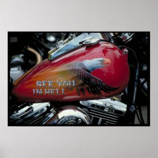 Custom fuel tank, Sturgis, South Dakota Poster