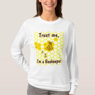 Custom Funny Beekeeper Honeycomb Art Tee