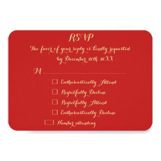 Custom Funny Christmas Holiday Wedding RSVP Invite