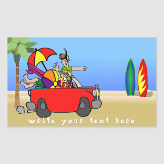 CUSTOM FUNNY FAMILY OR FRIENDS VACATION STICKER