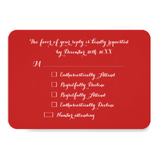Custom Funny LOL Holiday Christmas Red Party RSVP Card