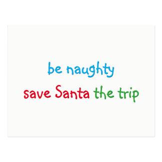 Custom Funny Santa Joke Christmas Holiday Card
