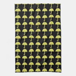 Custom Funny Yellow Umbrella Pattern Towel