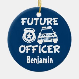Custom Future Officer Baby boy Christmas ornament