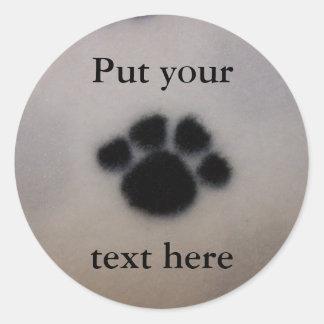 Custom Fuzzy Puppy Dog Paw Personalized Sticker