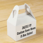 Custom GABLE Favour Boxes Blank Template