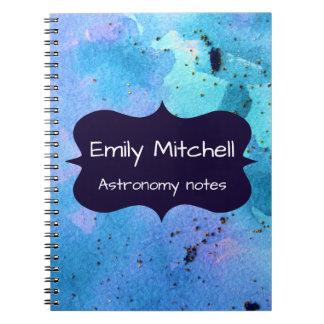 Custom Galaxy School Notebook