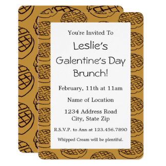 Custom Galentine's Day Brunch Waffle Invitation