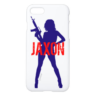 Custom Gangsta Sexy Lady Girl with Gun by VIMAGO iPhone 8/7 Case