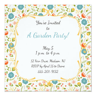 Custom Garden Party Flowered Invitation