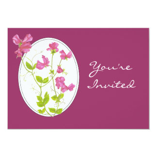 Custom Garden Party Invite Custom Sweet Pea