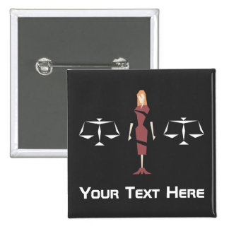 Custom Geometric Female Lawyer 15 Cm Square Badge