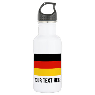Custom German flag water bottles for Germany