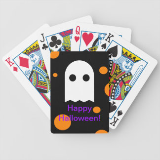 Custom Ghost Halloween Playing Cards for Kids