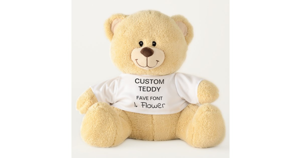 custom giant 21 teddy bear template indie flower zazzle com au